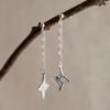 Origami Shuriken (Ninja Star) Drop Earrings