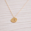 Gold Vermeil Kanji Droplet Necklace