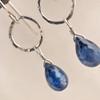 Kyanite Ringlet Droplet Earrings