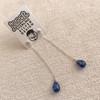 Kyanite Single Drop Earrings