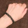 Double Strand Hand Knotted Titanium Coated Hematite Bracelet