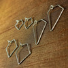 ALA CARTE:  Diamond Shaped Handmade Earwire Hoops--3 sizes, sold separately