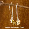 Sun Goddess Earring Accessories Bundle (8 semi-precious stones per side)--hoop earrings are sold separately, 10% off with bundle purchase