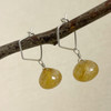 Large Golden Rutilated Quartz, Faceted Button Briolette Earring Accessory--hoop earrings are sold separately (10% off with any Earring Accessory purchase)