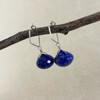 Large Lapis Lazuli, Faceted Button Briolette Earring Accessory--hoop earrings are sold separately (10% off with any Earring Accessory purchase)