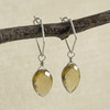 Large Citrine, Faceted Flat Briolette Earring Accessory--hoop earrings are sold separately (10% off with any Earring Accessory purchase)
