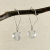 Clear Crystal Quartz, Faceted Pyramid Earring Accessory--hoop earrings are sold separately (10% off with any Earring Accessory purchase)