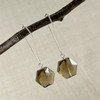 Large Smokey Quartz, Faceted Hexagon Earring Accessory--hoop earrings are sold separately (10% off with any Earring Accessory purchase)