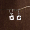 Stars for Squares Droplet or Long Drop Earrings