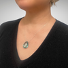 One-of-a-Kind: Genuine Blue Topaz  Faceted Teardrop Necklace