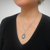 """One-of-a-Kind:  Genuine Blue Topaz Necklace with Round """"Rough Around the Edges"""" Pendant"""