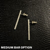 Textured Bar Post Earrings (available in 3 lengths)