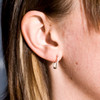 """Funkytown Hoop Earrings, Handmade 1"""" Squares (1/2"""" Hoops are SOLD OUT!)"""