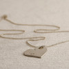 Customized Heart Tag Necklace