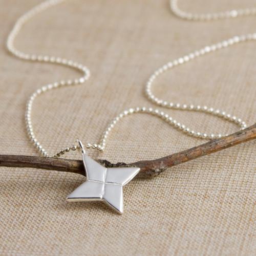 "Ninja Star (""Shuriken"") Necklace"