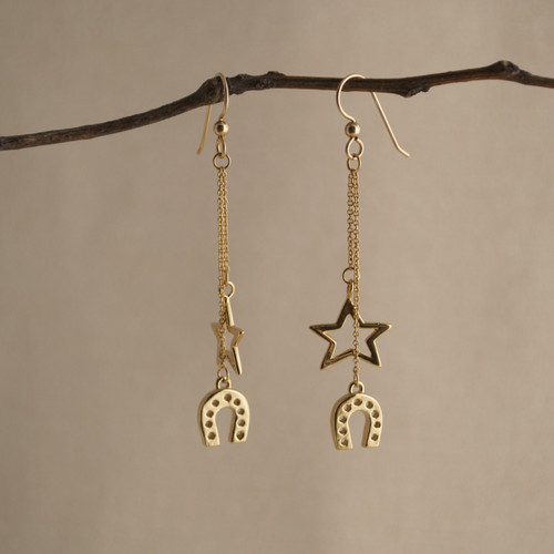 Gold Vermeil Urban Cowboy Earrings