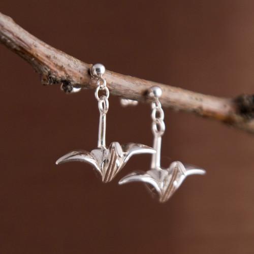 Origami Tsuru Earrings