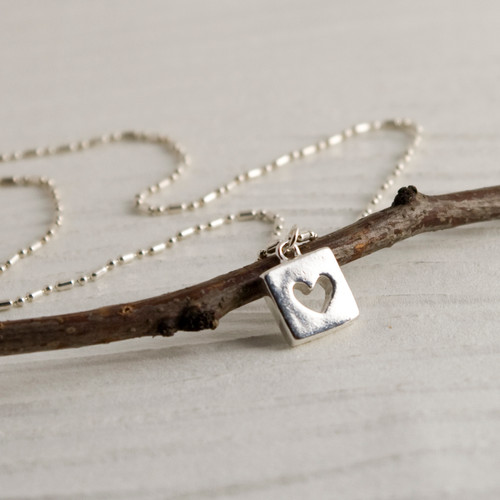 Hearts for Squares Necklace