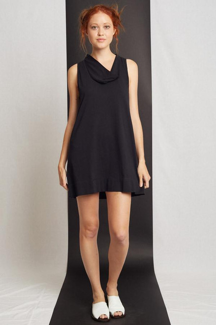 51inc Sample Sale for WK: Black Cowl Tank Dress