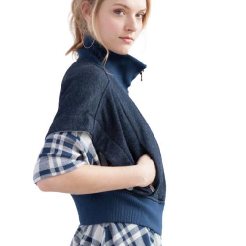 51inc Sample Sale for WK:  Indigo Fleece Sleeveless Jacket
