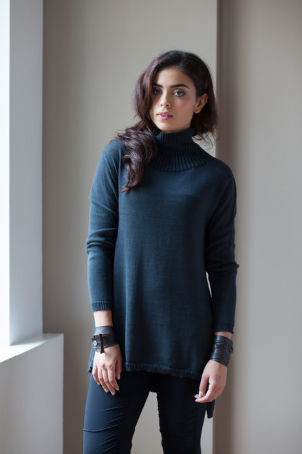 51inc Sample Sale for WK:  Flared Turtleneck Sweater in Black or Anthracite