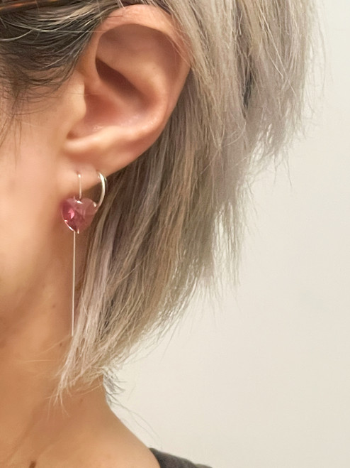 Swarovski Crystal Mini Square Stem Earrings