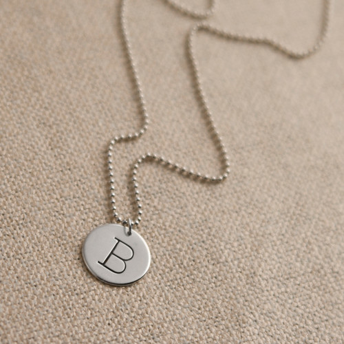 Initial Droplet Necklace