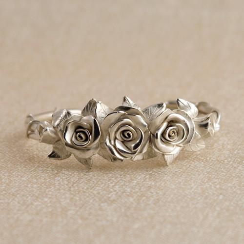 Made to Order Miniature Rose Cuff Bracelet