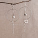 Super Star Earrings with Large Hoops or Teardrops