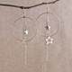 Super Star Earrings with Large Hoops or Teardrops