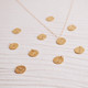 Gold Vermeil Initial Droplet Necklace