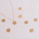 May Sale Item:  Gold Vermeil Kanji Droplet Necklace