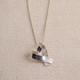 Large Ribbon Heart Necklace
