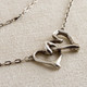 "Valentine's Day Sale!  ""Opposites Attract"" Double Heart Link Necklace--20% off!"