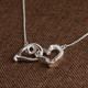 """Opposites Attract"" Double Heart Link Necklace"