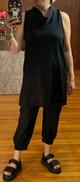 51inc Sample Sale for WK: Black Cowl Tank Dress
