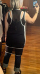 51in Sample Sale for WK:  Black Mesh Double Tank Dress