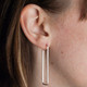 Long Slinky Funkytown Hoop Earrings