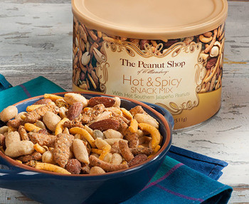 HOT & SPICY SNACK MIX WITH HOT SOUTHERN JALAPENO NUTS