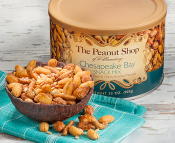 CHESAPEAKE BAY SNACK MIX WITH CRAB TOWN PEANUTS