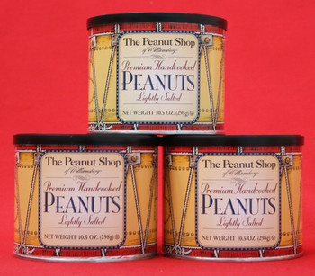 THE PEANUT SHOP OF WILLIAMSBURG COLONIAL DRUM SALTED HAND COOKED EXTRA LARGE VIRGINIAPEANUTS