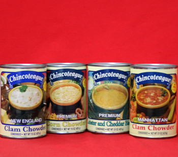 Chincoteague Seafood Chowders and Bisque Sampler