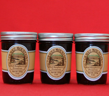GRAVES MOUNTAIN RED RASPBERRY PRESERVES