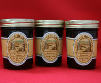 GRAVES MOUNTAIN SEEDLESS BLACKBERRY PRESERVES