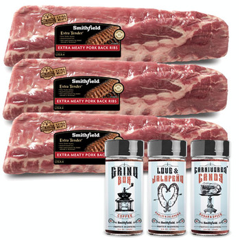 Smithfield - Back Ribs and Seasoning Combo - Price Includes Shipping