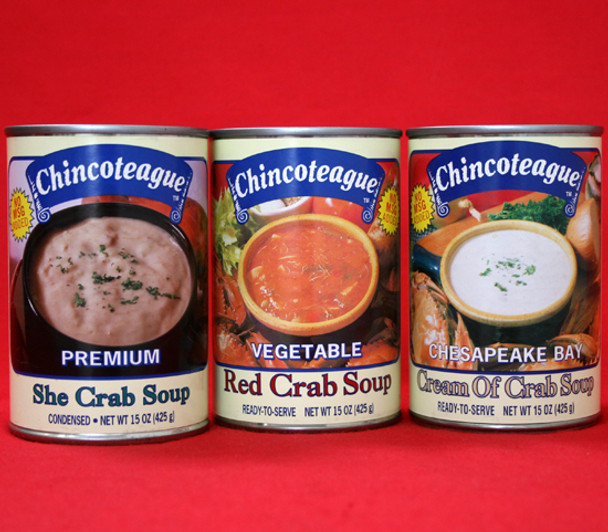 CHINCOTEAGUE CRAB SOUP SAMPLER
