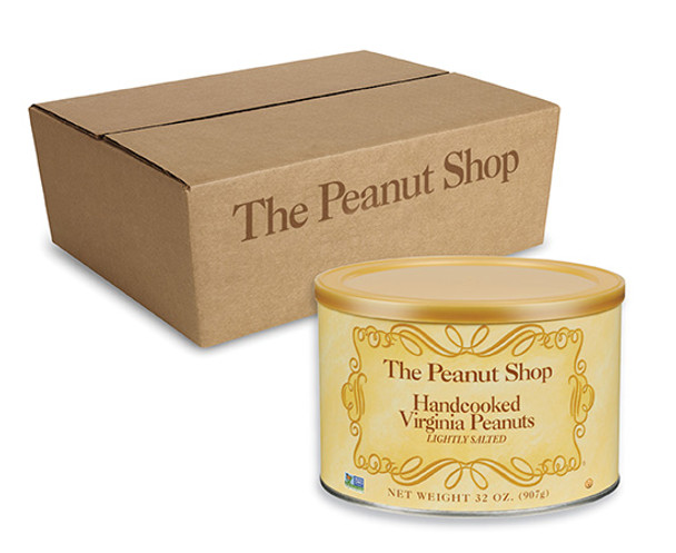 The Peanut Shop of Williamsburg Hand Cooked Extra Large Salted Virginia Peanuts