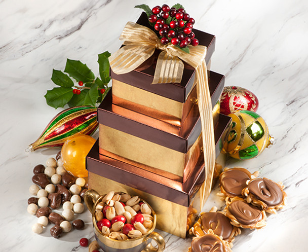 ELEGANT HOLIDAY GIFT TOWER