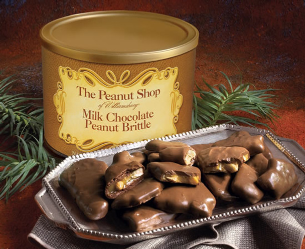 THE PEANUT SHOP OF WILLILAMSBURG MILK CHOCOLATE PEANUT BRITTLE