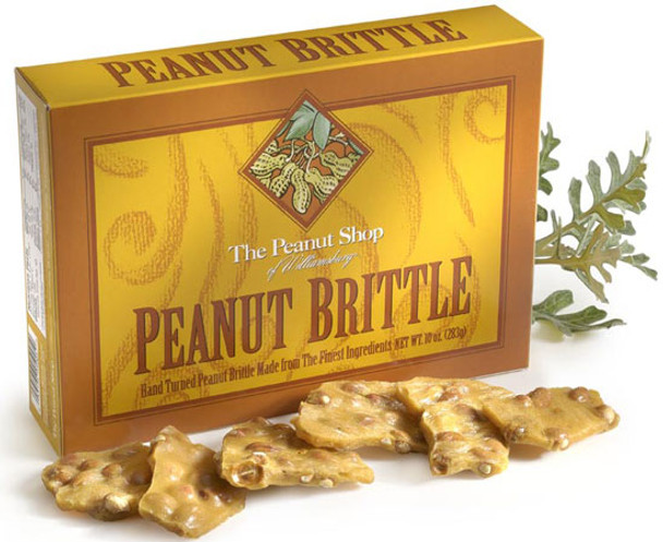 THE PEANUT SHOP OF WILLIAMSBURG PEANUT BRITTLE